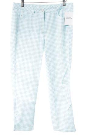 Basler 7/8-Hose babyblau-weiß Karomuster extravaganter Stil
