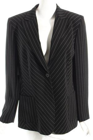 Basler Blazer schwarz-weiß Streifenmuster Business-Look