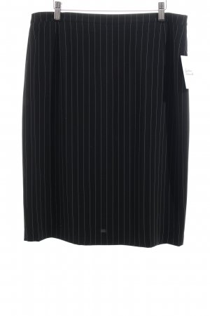 Basler Jupe crayon noir rayure fine style d'affaires