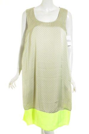 Basler Blusenkleid neongelb-beige Punktemuster Casual-Look