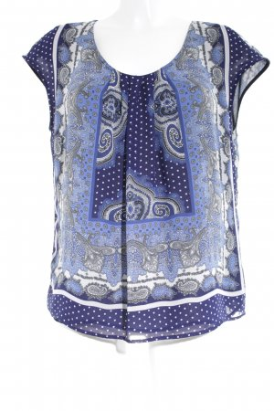 Basler Blouse topje donkerblauw-wit Patroon-mengeling casual uitstraling