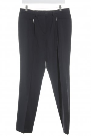 Basler Bundfaltenhose dunkelblau Business-Look