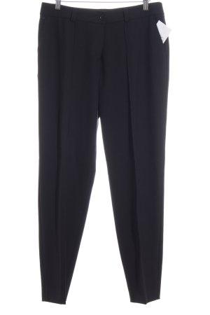 Basler Pantalone a pieghe nero stile classico