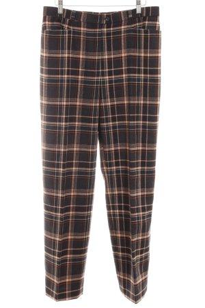 Basler Pantalon à pinces motif Vichy style rétro