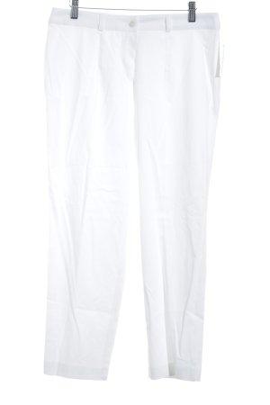 Basler Pantalon à pinces blanc style classique