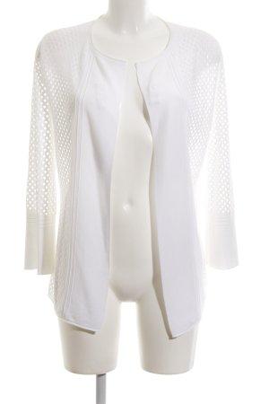 Basler Cardigan blanc style transparent