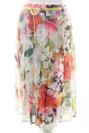 Basler Faltenrock florales Muster Eleganz-Look