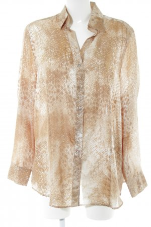 Basler Splendor Blouse brown-natural white allover print elegant