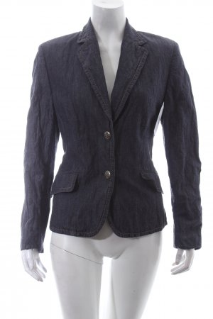 Basler Denim Blazer dark blue-oatmeal pinstripe casual look