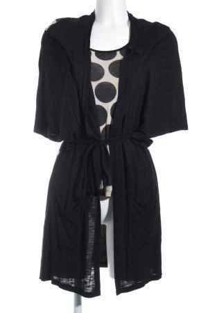 Basler Twin Set tipo suéter negro-beige estampado a lunares look casual