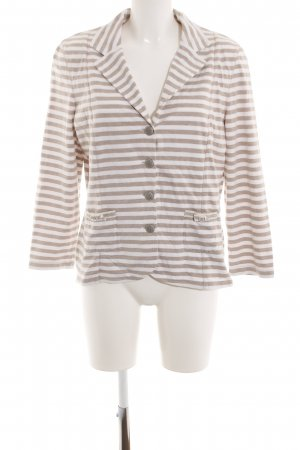 Basler Jersey Blazer brown-white striped pattern business style