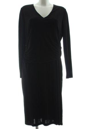 Basler Jerseykleid schwarz Elegant