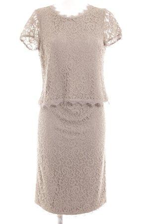 Basler Kostüm hellgrau-graubraun abstraktes Muster Business-Look