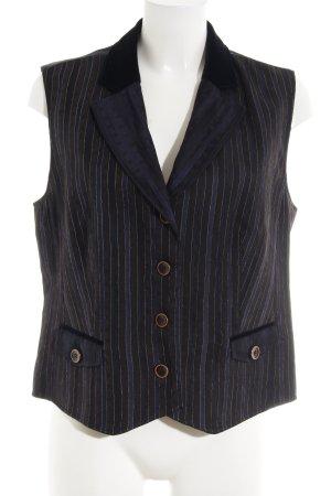 Basler Vest van imitatiebont gestreept patroon zakelijke stijl