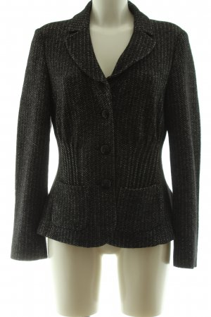 Basler Short Blazer black striped pattern business style