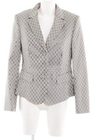 Basler Blazer court gris clair-blanc motif de tache élégant