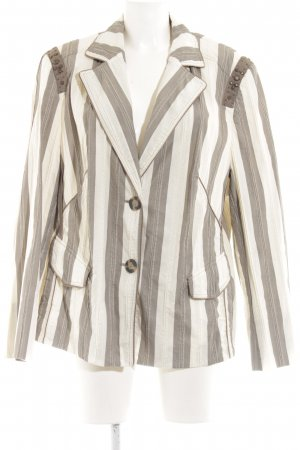 Basler Short Blazer bronze-colored-cream striped pattern classic style
