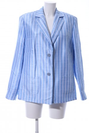 Basler Short Blazer blue-white striped pattern business style