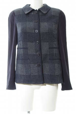Basler Short Blazer blue-light grey check pattern business style