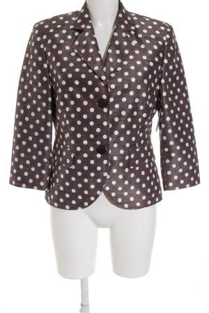 Basler Kurz-Blazer bronzefarben-weiß Punktemuster Street-Fashion-Look