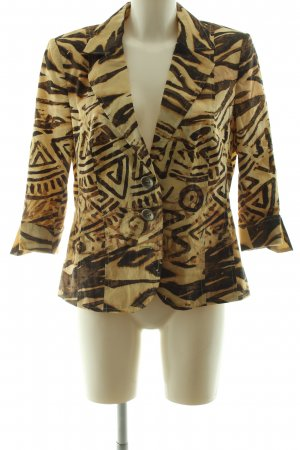 Basler Short Blazer abstract pattern business style