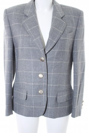 Basler Blazer corto gris claro estampado a cuadros estilo «business»