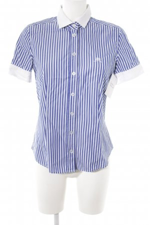Basler Kurzarm-Bluse blau-weiß Streifenmuster Casual-Look