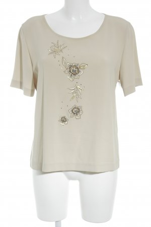 Basler Kurzarm-Bluse creme florales Muster Elegant