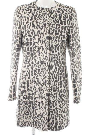 Basler Manteau court blanc-noir motif léopard imprimé animal