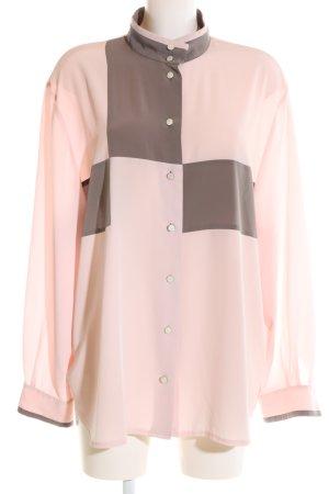 Basler Langarm-Bluse pink-braun Casual-Look