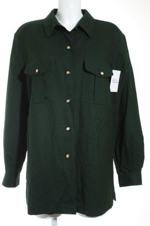 Basler Langarm-Bluse dunkelgrün Military-Look