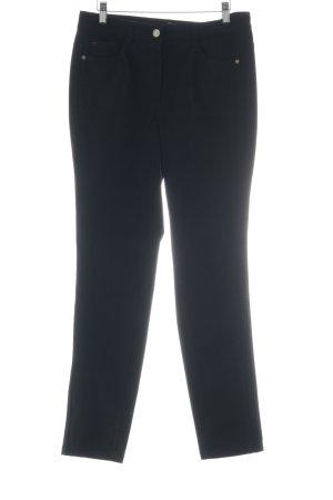 Basler Pantalon en cuir noir style décontracté