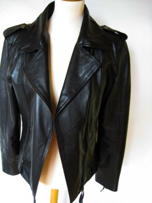 Basler Biker Jacket black leather