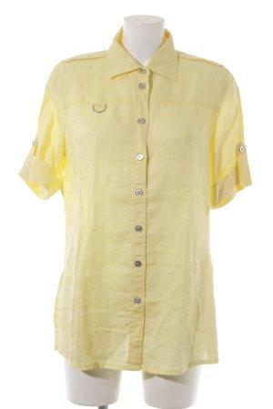 Basler Blusa in lino giallo pallido stile casual
