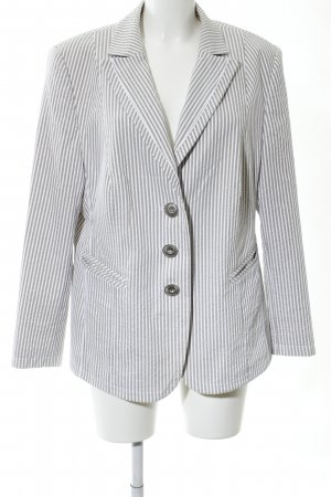 Basler Long Blazer light grey-white striped pattern business style