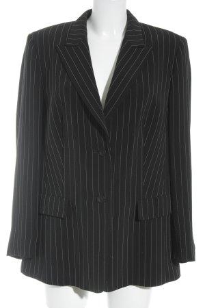 Basler Blazer long noir-blanc rayure fine style d'affaires