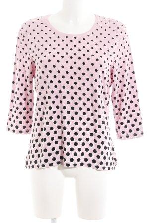 Basler Longsleeve rosa-schwarz Punktemuster Casual-Look