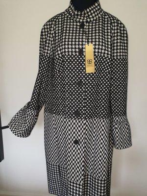 Basler Abrigo de lana blanco-negro