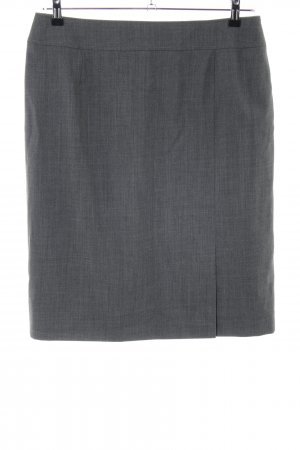 Basler Midi Skirt light grey flecked business style