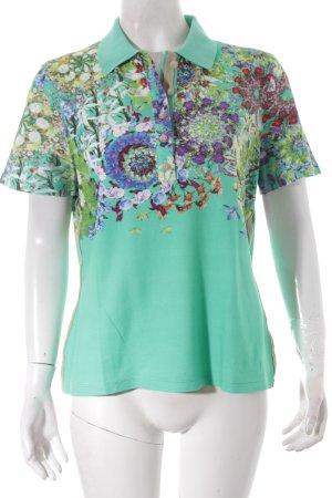 Basler Polo-Shirt Blumenmuster klassischer Stil