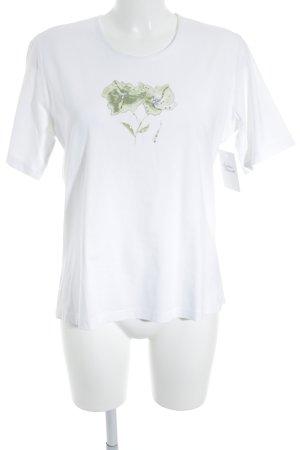 Basler Print-Shirt weiß-hellgrün florales Muster klassischer Stil