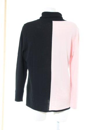 Basler Rollkragenpullover pink-schwarz Casual-Look