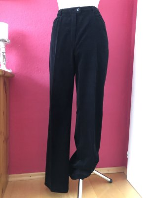 Basler Pantalón de cintura alta negro Algodón