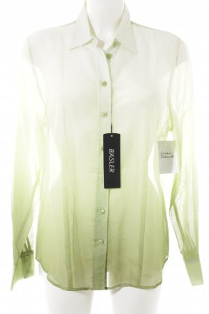 Basler Blusa de seda degradado de color look transparente