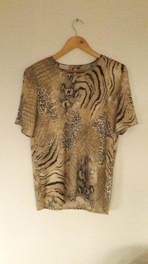 Basler Shirt Bluse Tunika Shirtbluse Blusenshirt Leo Zebra Animal Satin seidig