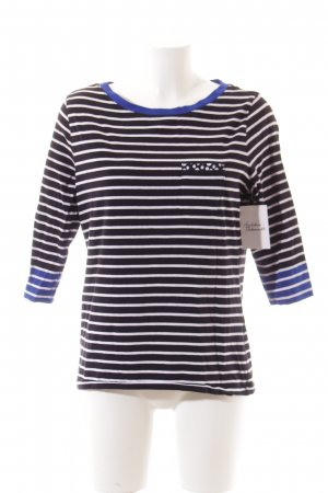 Basler Shirt weiß-dunkelblau Streifenmuster Casual-Look