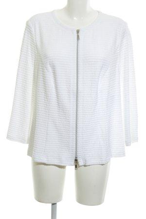Basler Shirtjacke weiß Streifenmuster