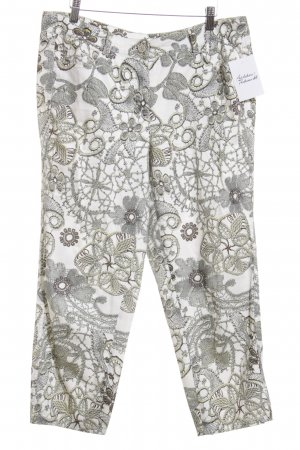 Basler Stoffhose florales Muster Casual-Look