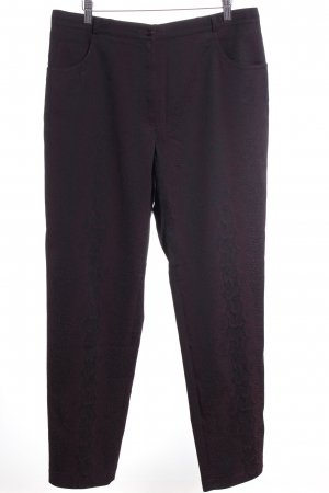 Basler Pantalon en jersey noir-violet imprimé reptile