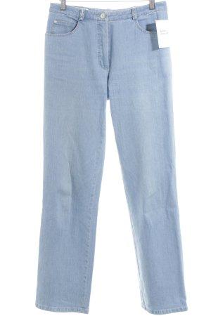 Basler Jeans met rechte pijpen azuur klassieke stijl
